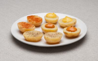 Patata con salsas o pimientas