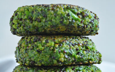 Hamburguesa de Quinoa con Espinacas